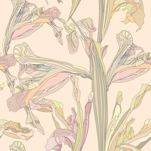 Padrão sem emenda floral. Fundo de redemoinho de flor. vetor