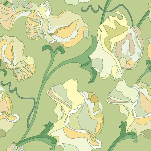 Motivo floreale senza soluzione di continuità. Sfondo di ricciolo di fiori. Ornamen floreali vettore