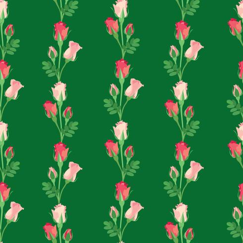 Floral seamless pattern. Flower rose background. vector
