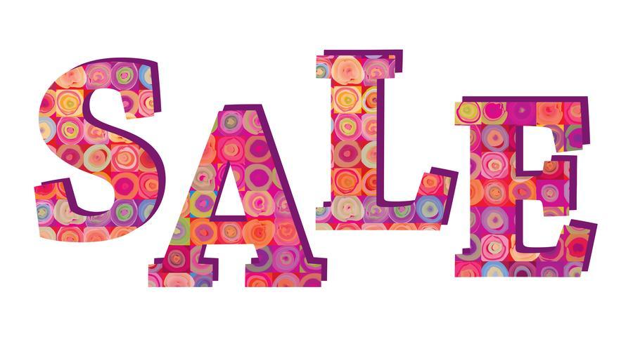 Sale banner. Big summer sale sign over white background