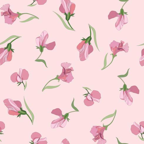 Padrão sem emenda floral. Fundo de redemoinho de flor. Ornamen floral
