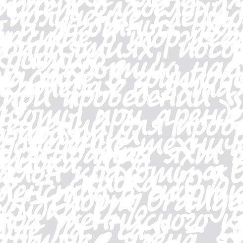 Mano escrita carta garabatos de patrones sin fisuras vector
