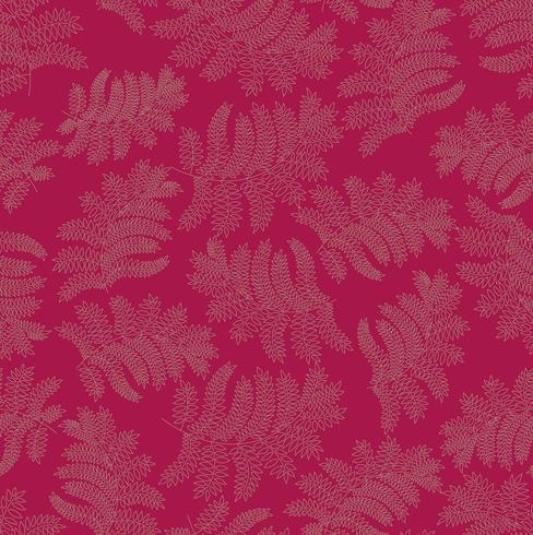 Patrón floral sin fisuras Hoja de fondo Adorno floreciente con hojas.