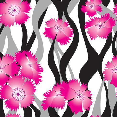 Nahtlose Blümchenmuster Blumen Hintergrund Ziergarten