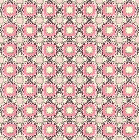 Nahtlose Linienmuster. Abstrakte Blumenverzierung. Geometrische Textur
