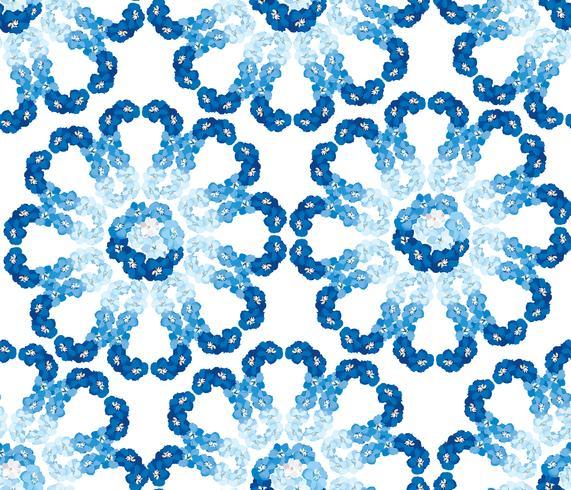 Resumen patrón floral del azulejo. Fondo de flor de jardín