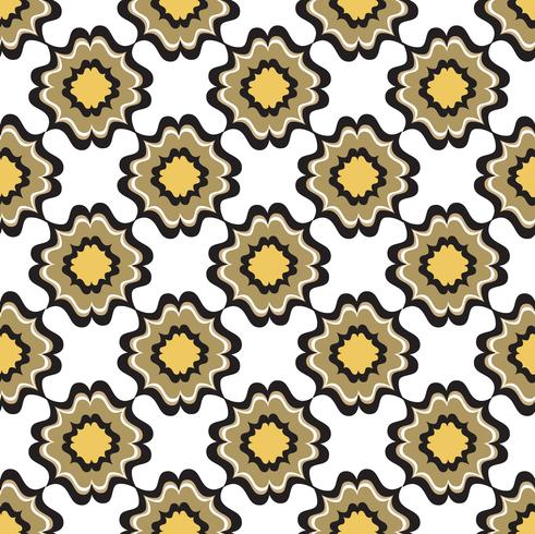 Seamless flower pattern. Abstract floral ornament. Oriental Texture vector