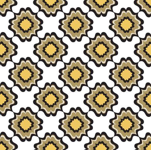 Patrón de flores sin fisuras Ornamento floral abstracto. Textura oriental