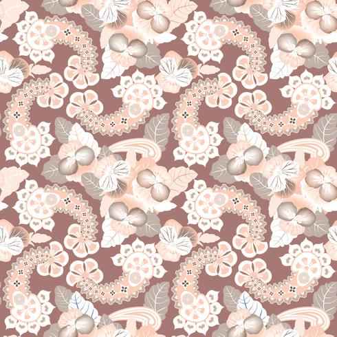 Floral seamless pattern. Oriental texture. Flower ornament