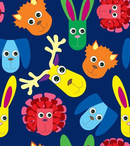Patrón de la vendimia con los juguetes del bebé. Niños lindos mullidos juguete ilustración.