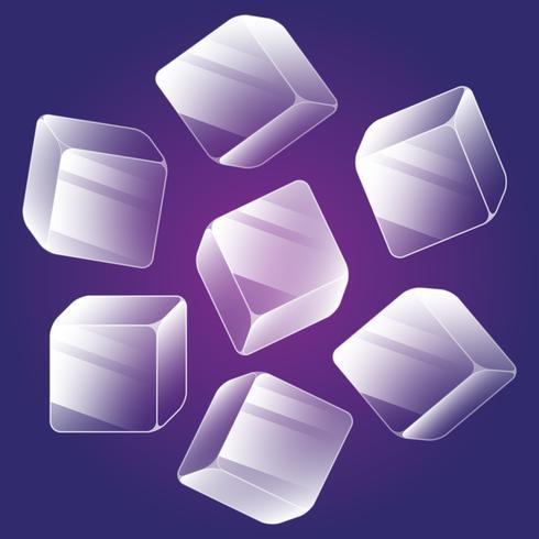 Ice Cube Icons Conjunto de elementos isométricos vetor