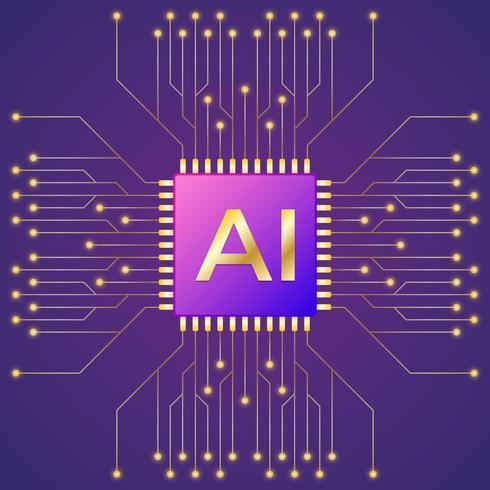 Inteligência Artificial e Aprendizado de Máquina vetor