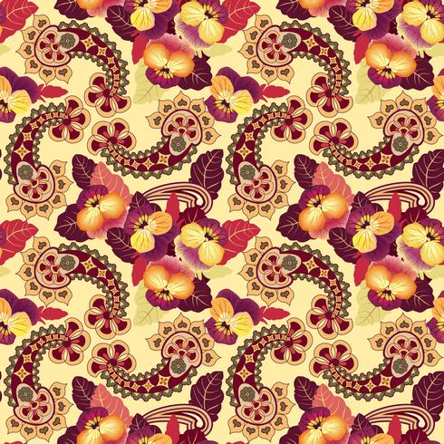 Nahtlose Blümchenmuster Orientalische Textur Blumenverzierung