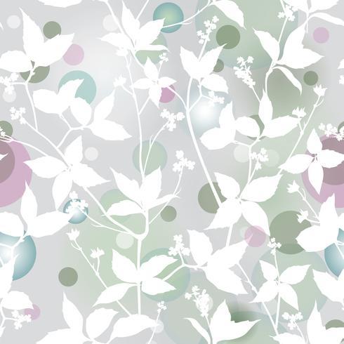 Patrón floral. Deja el fondo transparente. Jardin ornamental