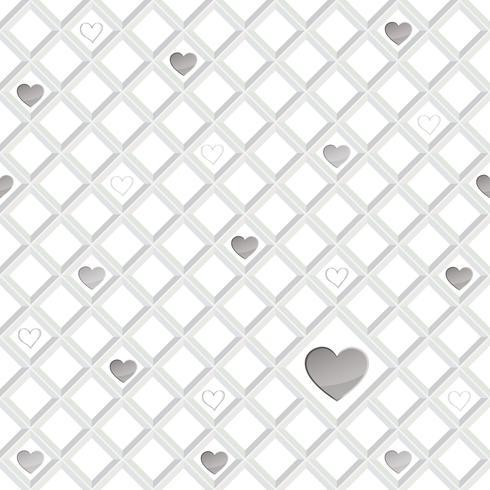 Modello senza cuciture del cuore di amore ornamento geometrico di giorno di San Valentino