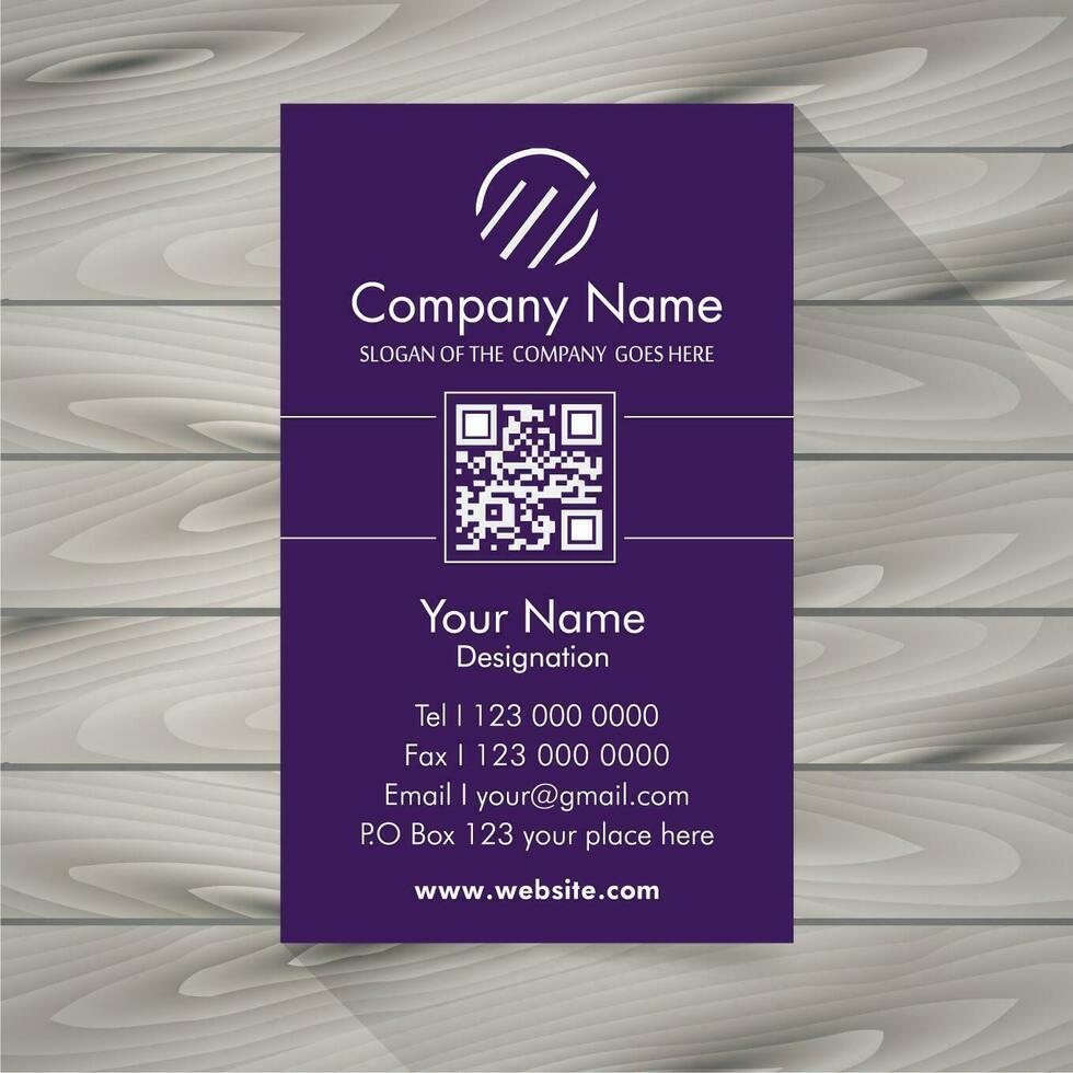 Cartão de visita violeta vetor