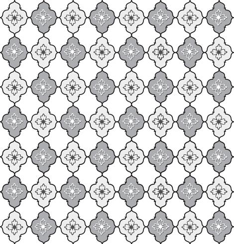 Seamless line pattern. Abstract floral ornament. Geometric texture