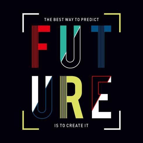 Diseño vectorial tipografía varsity colección futuro para impresión de camiseta