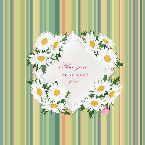 Fondo floral de la tarjeta de felicitación del verano del Flourish del marco del ramo de la flor