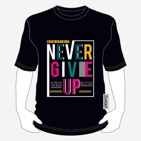 Inspiring motivation quote new spirit . Vector typography poster and t-shirt design