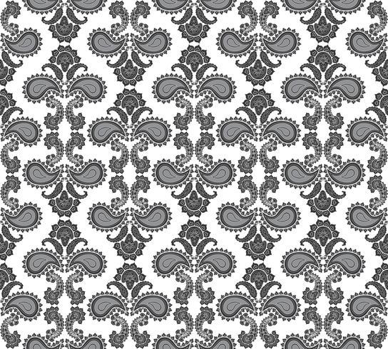 Naadloze bloemmotief. Oosterse textuur. Bloem ornament vector