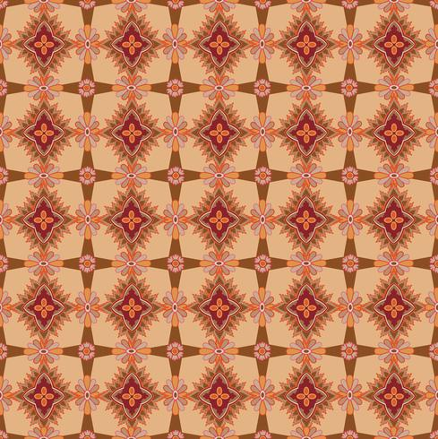 Modello di mosaico senza soluzione di continuità Astratto ornamento floreale Trama del tessuto orientale