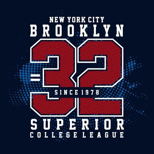 New York City T-Shirt Typografie bedruckt