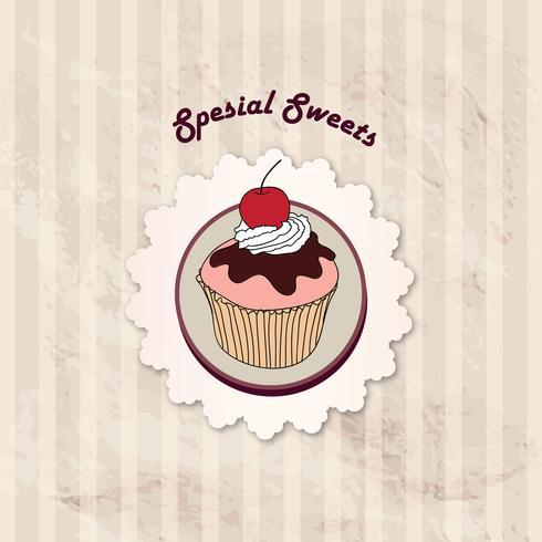 Cake. Cafe Menu Background. Bakery Label. Sweet, Dessert Poster