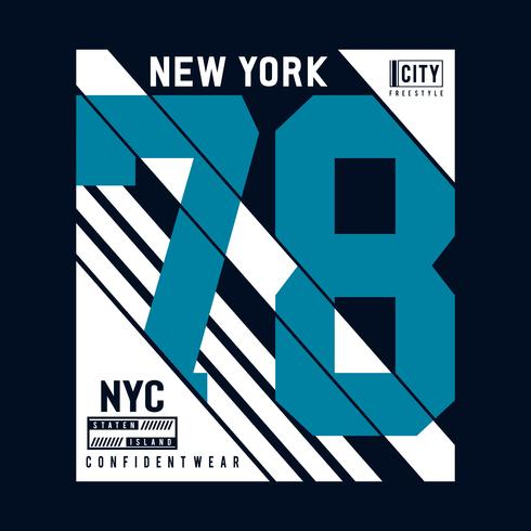 Conception de typographie de New York City, graphique de T-shirt