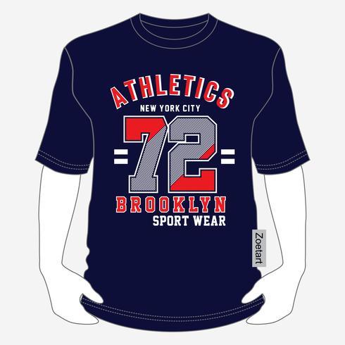 New York City typografi mode sport, t-shirt grafik - vektor