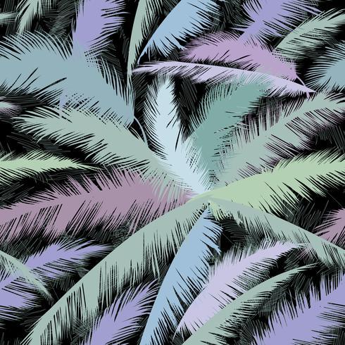 Patrón floral de hojas de palmera. Fondo de primavera de naturaleza con textura.