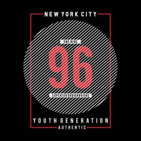 Art graphique de la typographie de la ville de New York