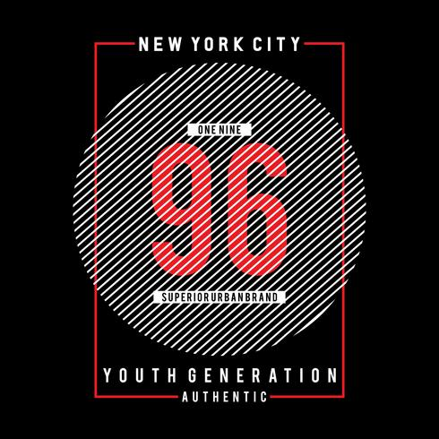 New York City typografi grafisk konst