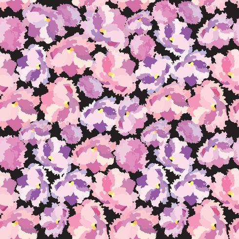 Abstract floral dot Flower petal seamless pattern Swirl floral texture vector