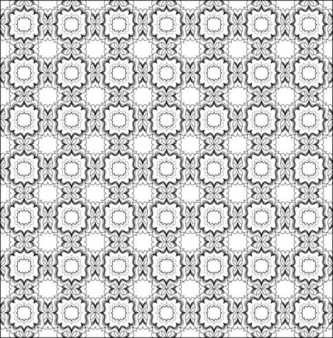 Patrón de línea inconsútil Ornamento floral abstracto. Textura geométrica