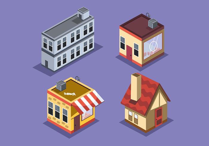 Isometrisch huis op lichtgekleurde achtergrond