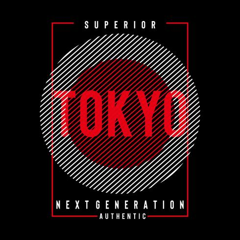 superior tokyo typography vector illustration for t shirt