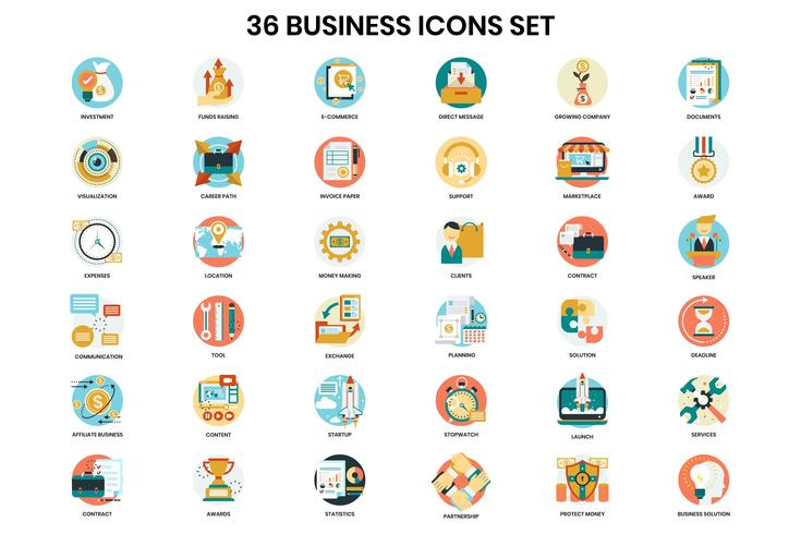 Business icons set for business