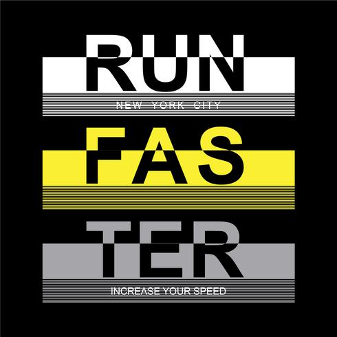athletic sport run typography tee t-shirt design