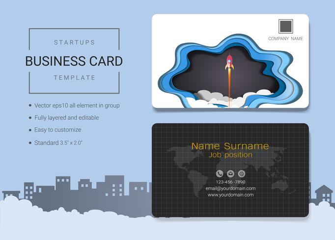 Plantilla de diseño de tarjeta de nombre de inicio de negocios