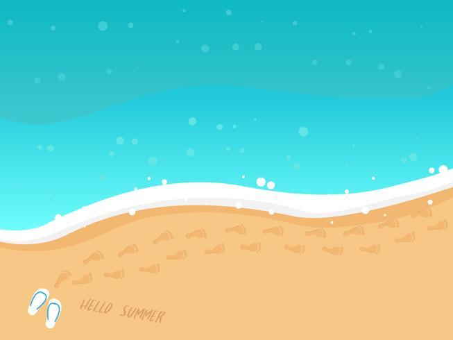 vista superior de la playa de verano vector