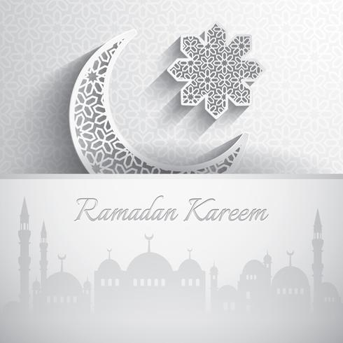 Ramadan Kareem. Gratulationskort.