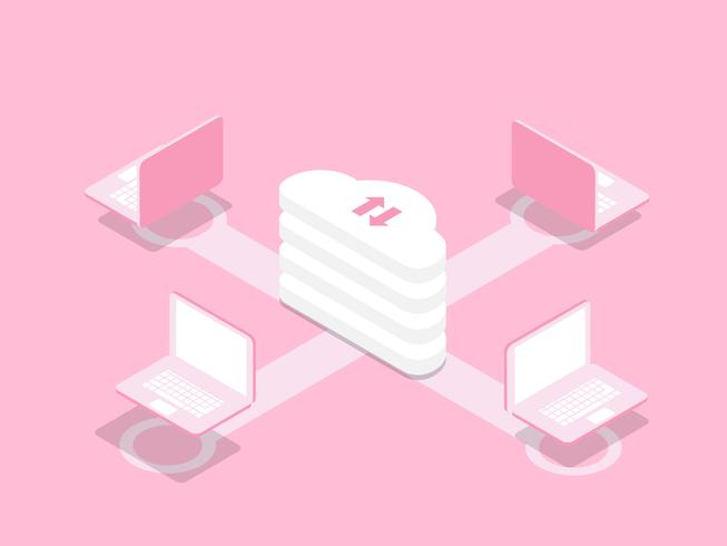 cloud computing-technologie concept met laptop