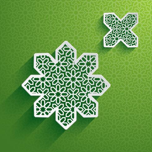 Gráfico de papel del elemento de diseño islámico.