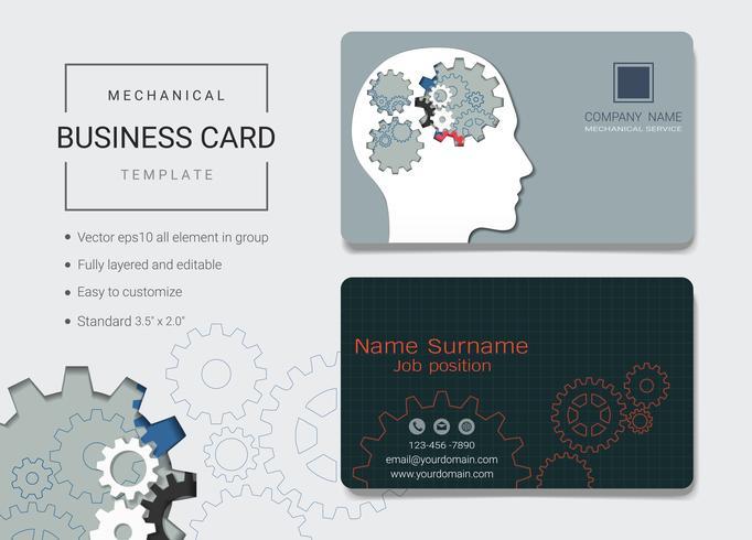 Modello di progettazione di carta business name meccanico.