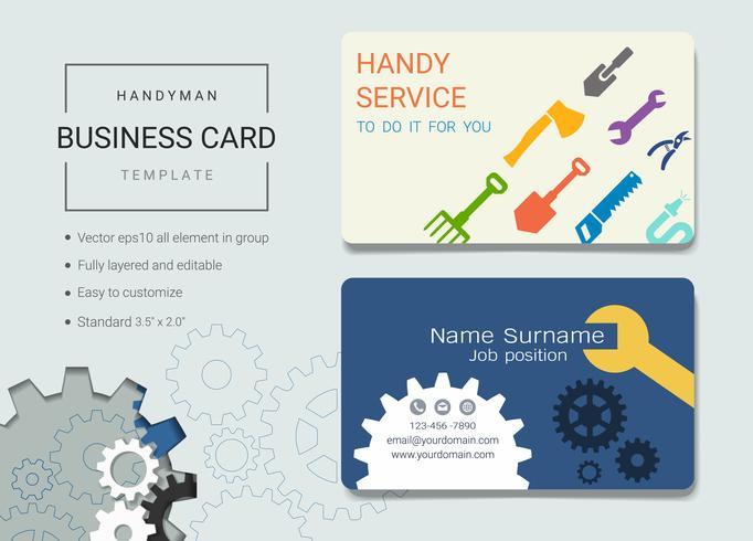 Modelo de design de cartão de nome de negócio faz-tudo