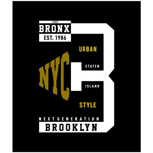 brooklyn typography design tee for t shirt print