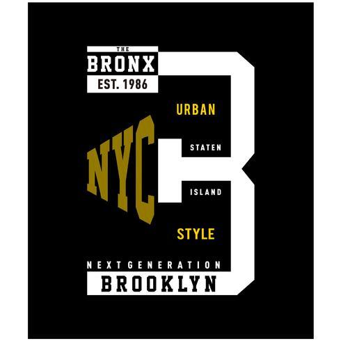 tee shirt brooklyn typographie design pour t-shirt imprimé
