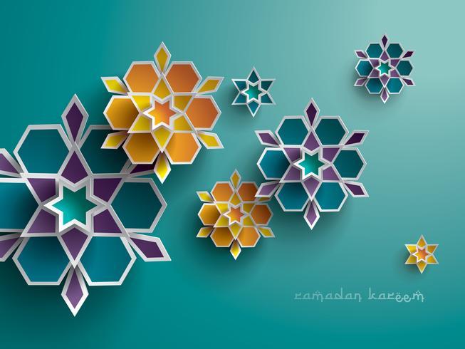 Gráfico de papel da arte geométrica islâmica vetor