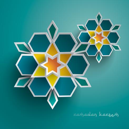 Papel gráfico del arte geométrico islámico.